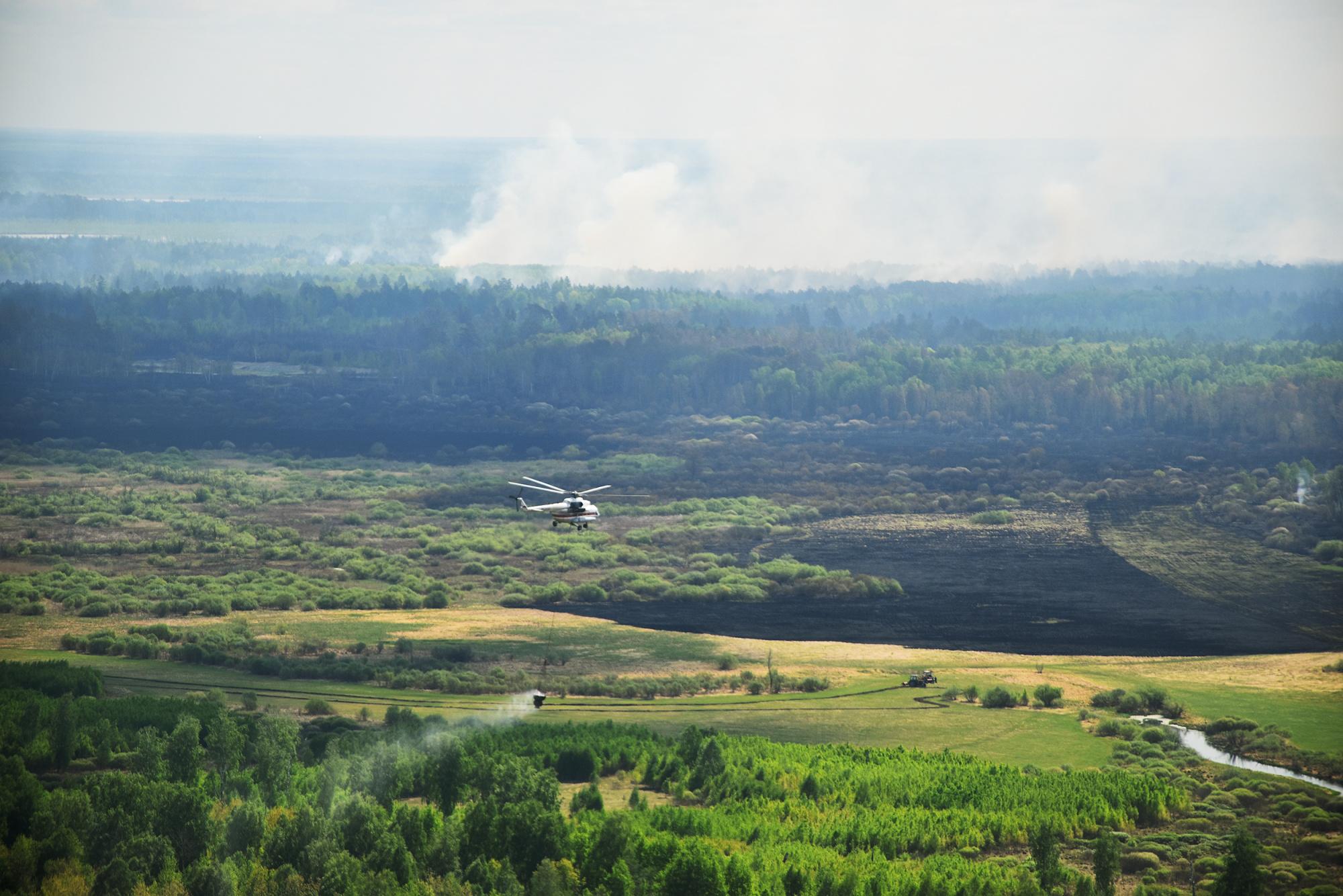 Первый замминистра МЧС России Александр Чуприян совершил облет территорий в Тюменской области